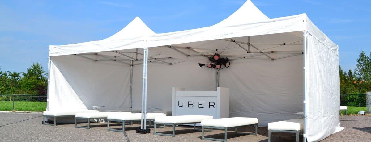 Partytent verhuurd aan Uber