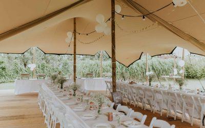 Stretchtent voor Bruiloft in Rijnsburg