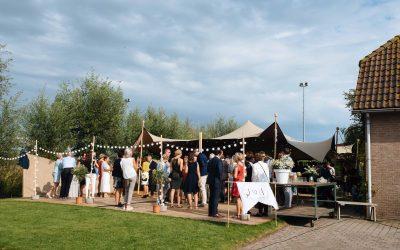 Stretchtent bij Bruiloft in Valkenburg