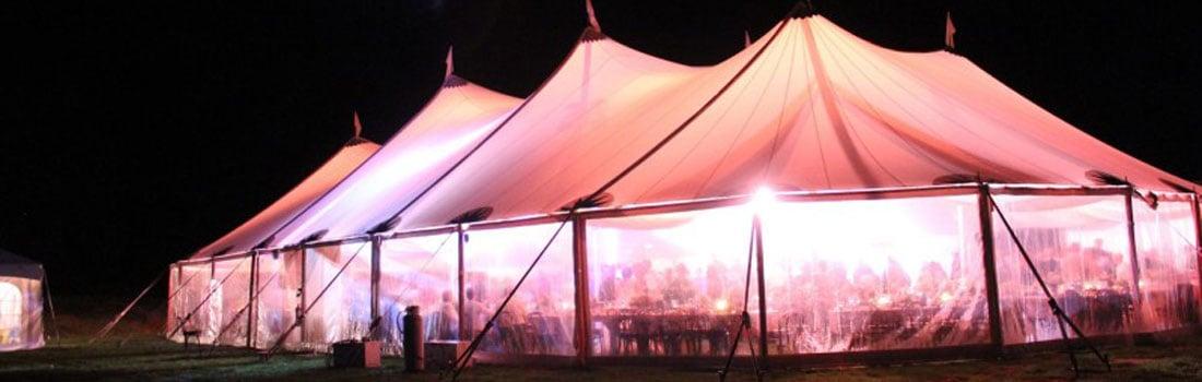 Ivory tent 2 - verlicht