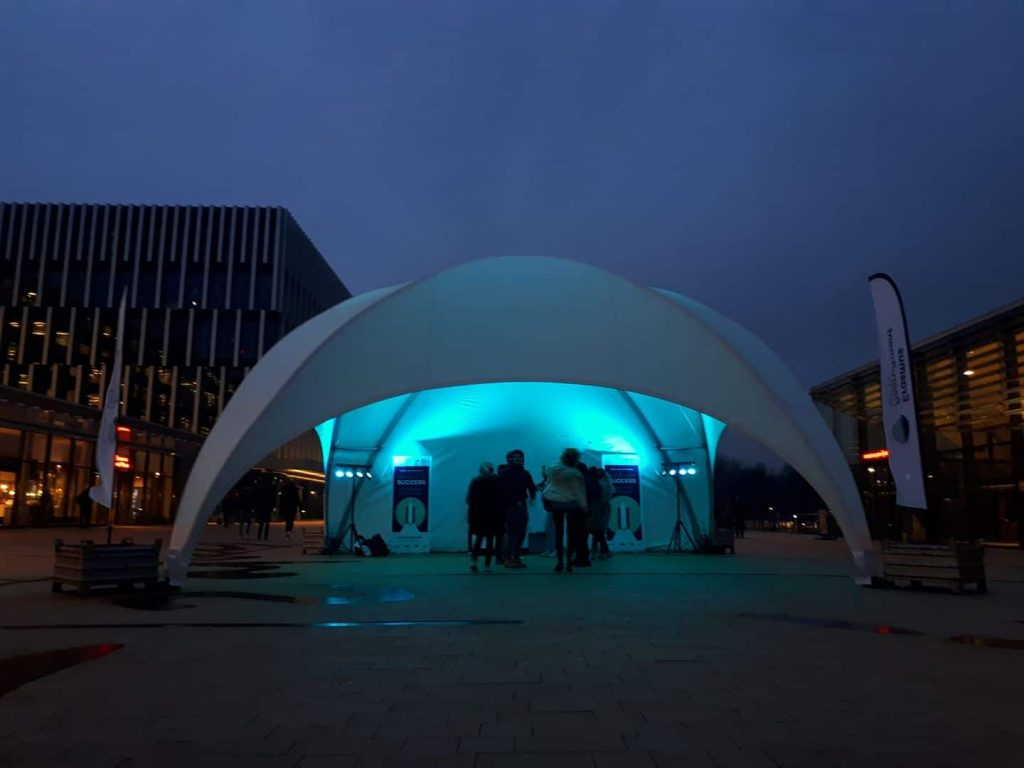 dome tent silent disco