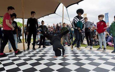 Stretchtent bop Bevrijdingsfestival Den Haag