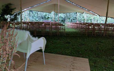 Stretchtent bij Bruiloft Landgoed de Olmenhorst Lisserbroek