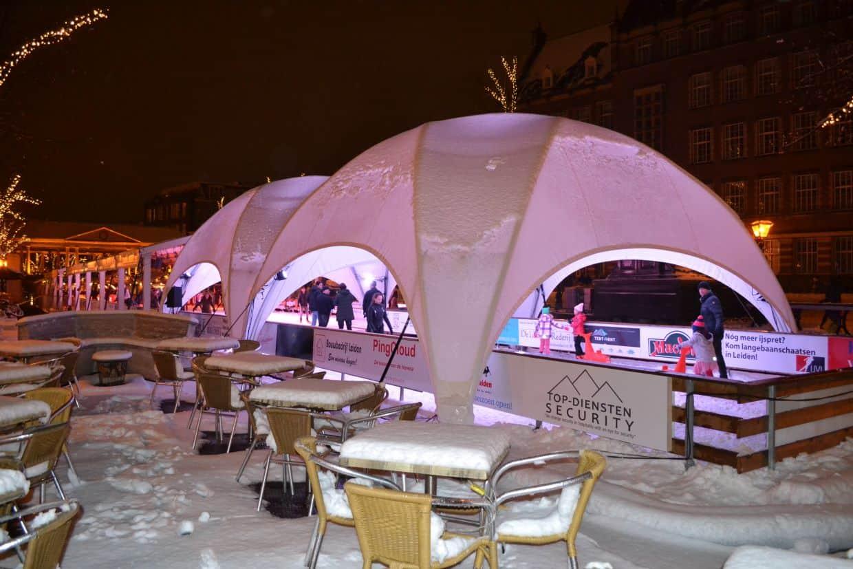verwarmde dome-tent