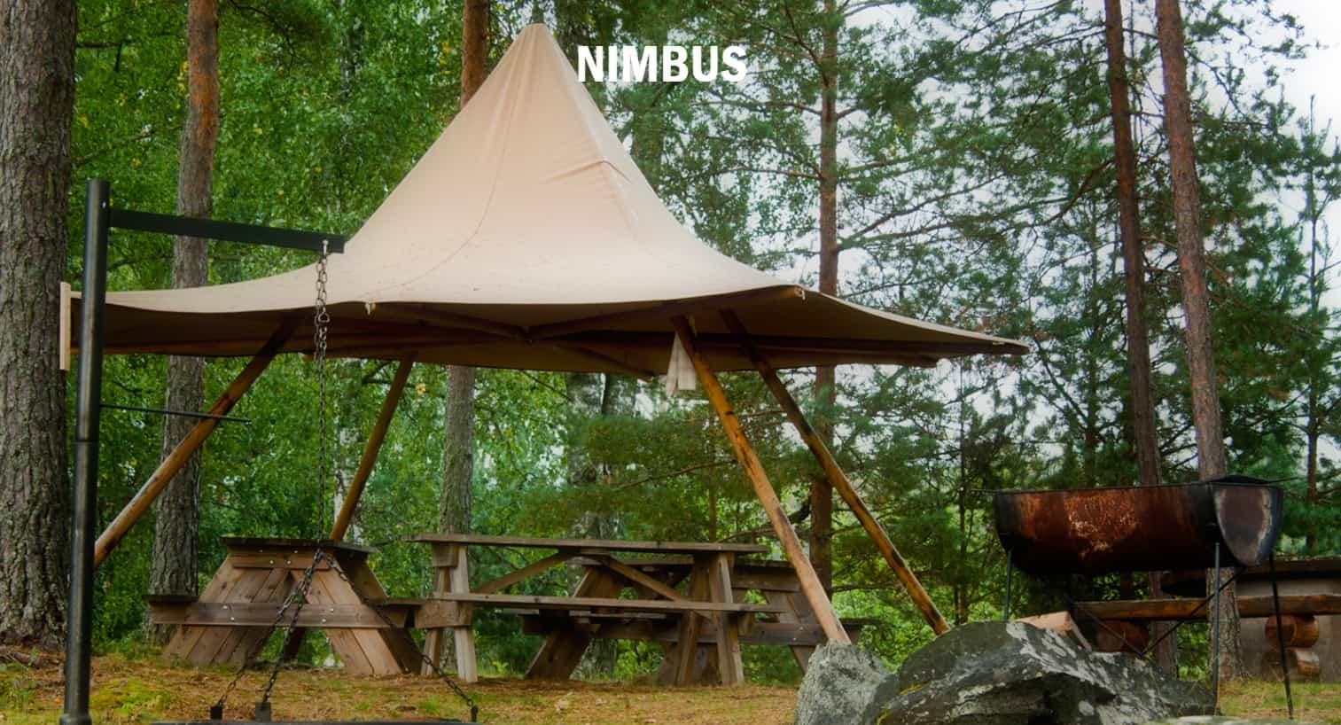 Zweedse tent Nimbus bij Tent4Rent