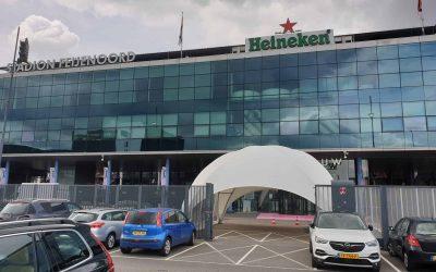 Dome tent voor concert Marco Borsato in De Kuip Rotterdam