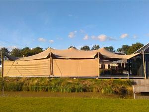 Windscherm bij Tent4Rent